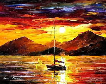 Naples - PALETTE KNIFE Oil Painting On Canvas By Leonid Afremov by Leonid Afremov