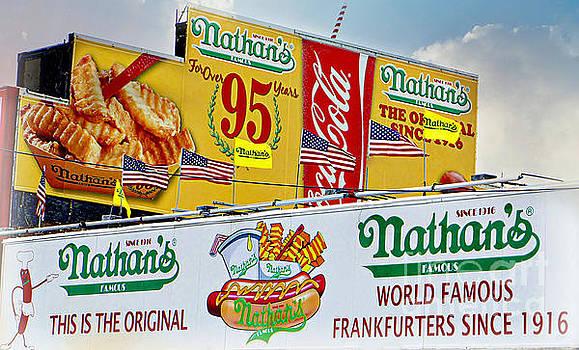 Nathan's Original Coney Island NY by Lilliana Mendez