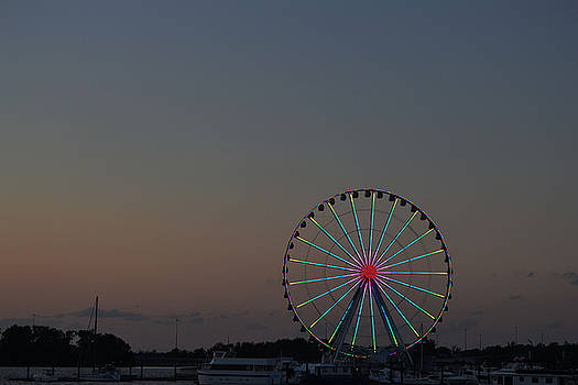 National Harbor-Capital Wheel 1 by Mikyong Rodgers