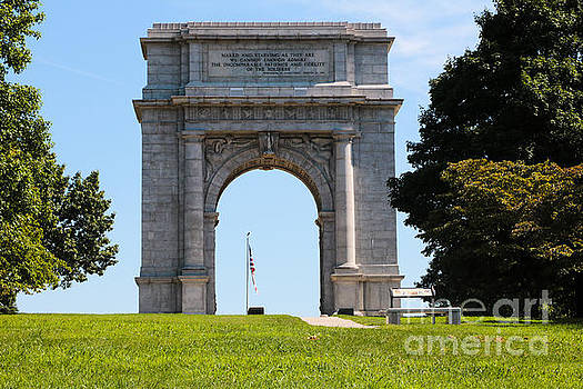 National Memorial Arch Valley Forge by Thomas Marchessault