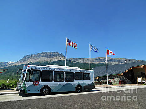 National Parks. St. Mary Visitor Center at Glacier by Ausra Huntington nee Paulauskaite