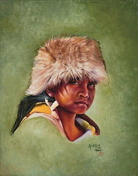 Native American boy by Mahto Hogue