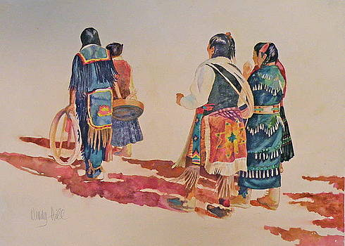 Native American Dancers by Wendy Hill