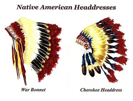 Native American Headdresses by Michael Vigliotti