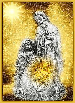 Nativity Christmas Card by Aurelio Zucco