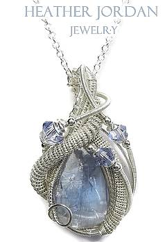 Natural Tanzanite Crystal and Swarovski Crystal Pendant in Tarnish-Resistant Sterling Silver TNZPSS5 by Heather Jordan