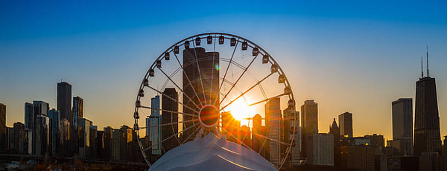 Navy Pier Sundown Chicago by Steve Gadomski