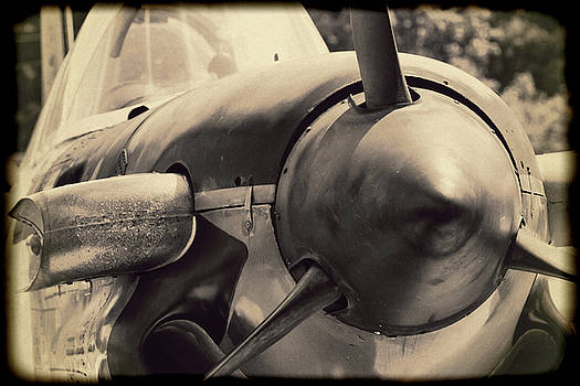 Navy World War II T-34 Mentor Trainer in Sepia by Kathy Clark