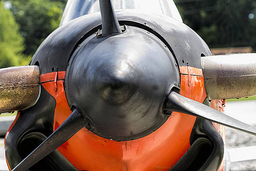 Navy World War II T-34 Mentor Trainer Propeller Nose Cone by Kathy Clark