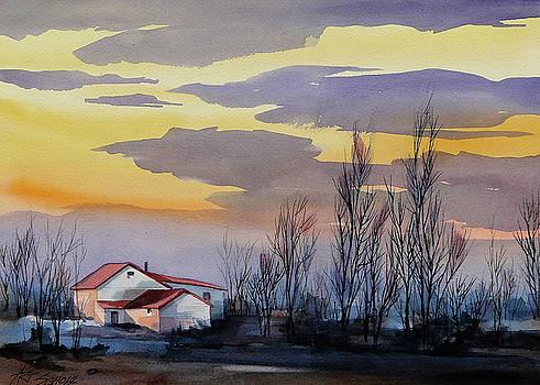 Near Sundown by Art Scholz