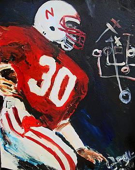 Jon Baldwin  Art - Nebraska Football Mike Rozier