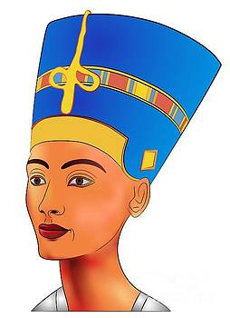 Nefertiti - queen of ancient Egypt by Michal Boubin