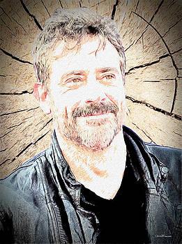 Negan - Jeffrey Dean Morgan - The Walking Dead Sketch by Ericamaxine Price