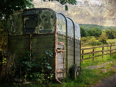 Neglected horse box by Susan Tinsley