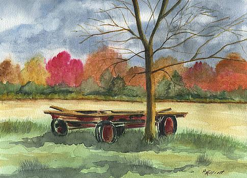 Neighbor Dons Old Wagon by Marsha Elliott