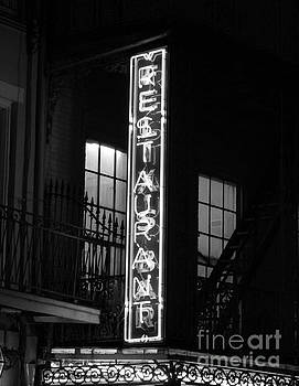 Neon French Quarter BW by Joseph Baril