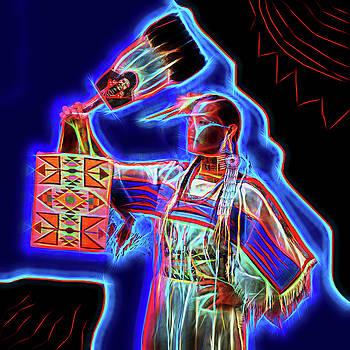 Neon Woman by Christian Heeb