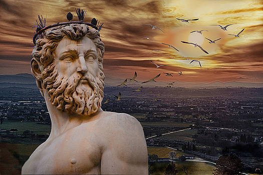 Neptune Guarding Italy by Maggie Magee Molino