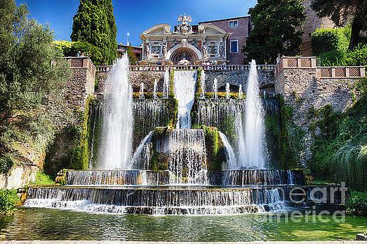 Neptune Water Fountain in Villa d E'ste by George Oze