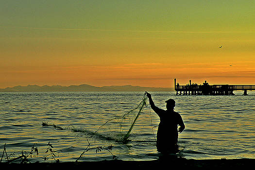 Net Fishing at Dusk by Brian Chase