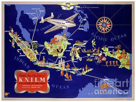 Netherlands Vintage Travel Poster Restored by Carsten Reisinger