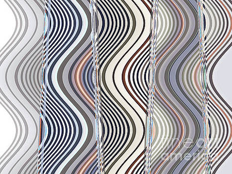 Neutral Graphic Glass Wave by Ann Johndro-Collins
