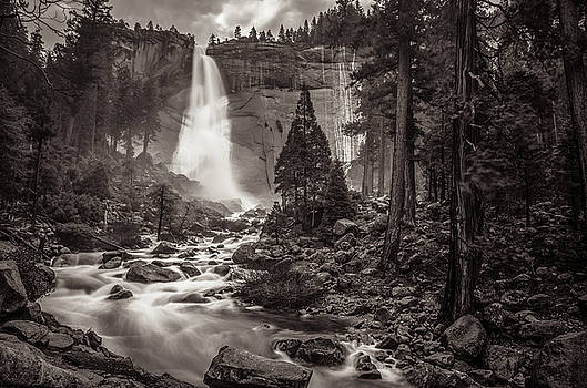 Nevada Fall Monochrome by Scott McGuire