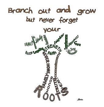 Never Forget Your Roots Version I by Pharris Art