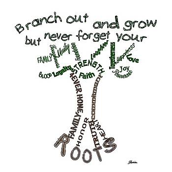 Never Forget Your Roots Version II by Pharris Art