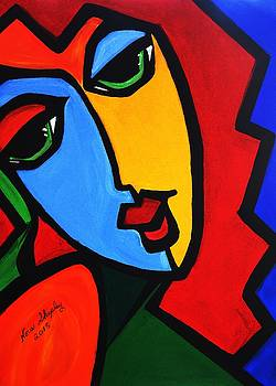 New  Abstract   Miss Tulip by Nora Shepley