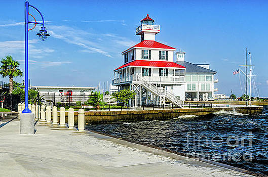 New Canal Lighthouse 2 - Nola by Kathleen K Parker