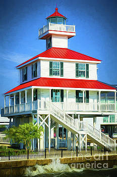 Kathleen K Parker - New Canal Lighthouse -painted