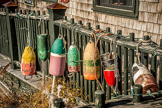 New England Buoys by Jerri Moon Cantone
