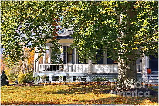 New England Porch by Marcel  J Goetz  Sr