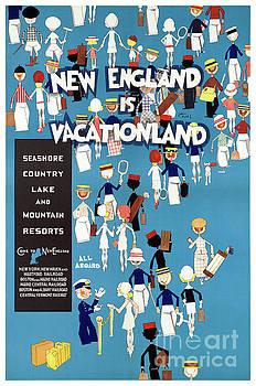 New England Restored Vintage Travel Poster by Carsten Reisinger
