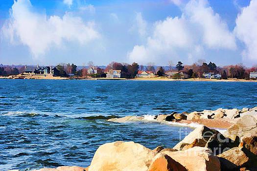 New England Shoreline - Painterly by Judy Palkimas