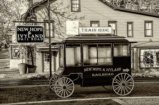 New Hope and Ivyland Railroad - Bucks County Pa in Sepia by Bill Cannon