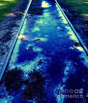 New Orleans Blue Ice A Urban Abstract 2 by Michael Hoard