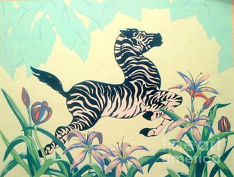 New Orleans Flying Zebra  by Michael Hoard