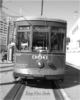New Orleans Streetcar 906  by Zarya Parx  Studio
