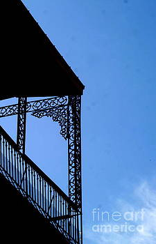 New Orleans Wrought Iron Blue Lace by Michael Hoard