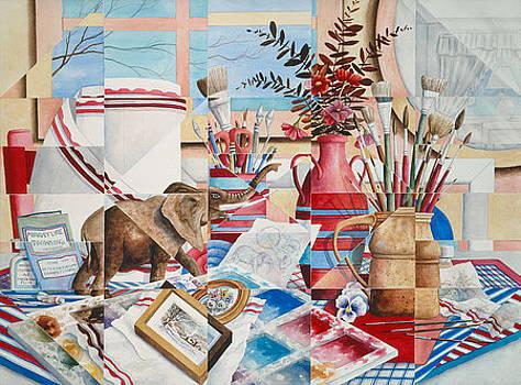 Kaleidoscope Of My Studio by Elinor Sethman