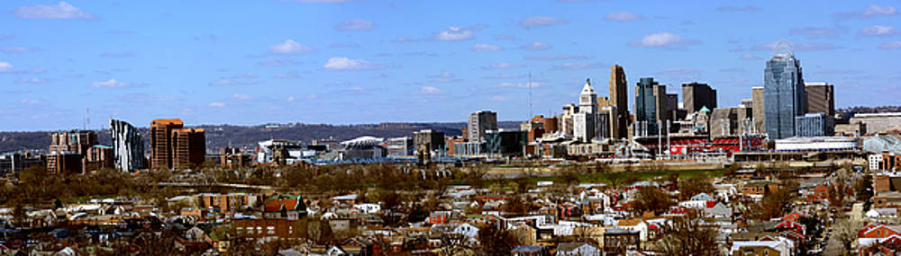 New View Pano City Cincinnati by Randall Branham