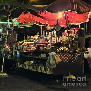 New York at Night - Umbrella Market by Miriam Danar