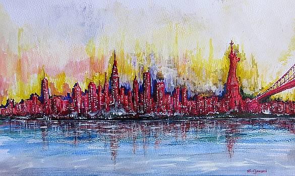 New York City Skyline by Geni Gorani