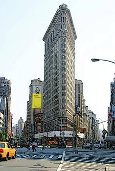 New York City Streets - Flat Iron Building by Ericamaxine Price