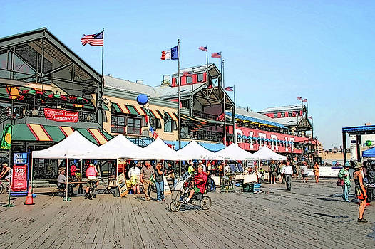 New York City Streets - South Street Seaport by Ericamaxine Price