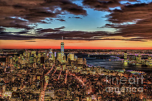 New York Electric Twilight by Rafael Quirindongo