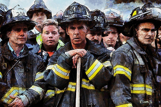 New York Firefighters after 9/11 by Kai Saarto