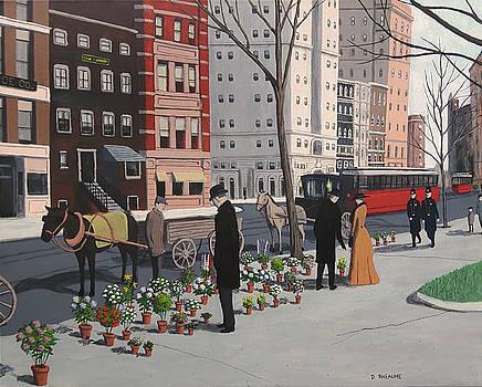 New York Flower Vendors by Dave Rheaume